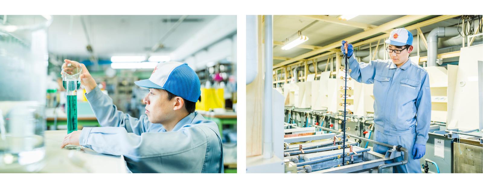 メッキの試作・サンプルのイメージ画像|サン工業株式会社